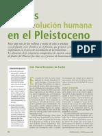 Claves de La Evolución Humana en El Pleistoceno (Enero 2008)