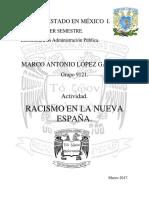 Racismo en La Nueva España