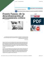 Frantz Fanon, de la descolonización al pensamto crítico copia