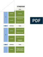 propuesta itinerario