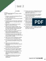 Diagnostic Test 2 Past Tenses