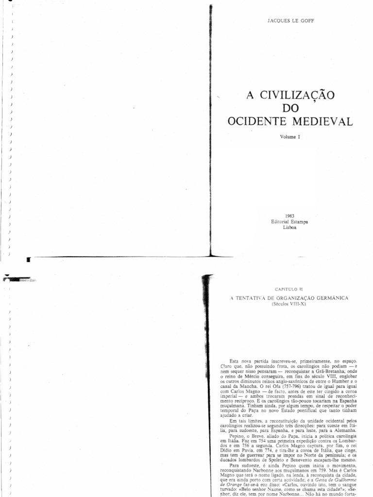 A Civilização Do Ocidente Medieval Pdf 03.04. le goff, j. a civilização do ocidente medieval