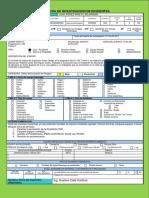 Ficha Modelo Registro de Incidentes en Accidentes