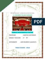 157755556 El Teatro Trabajo Monografico