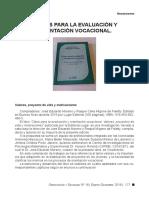 Claves para la evaluación y orientación vocacional