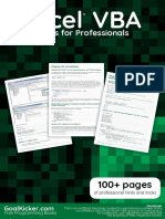 Excel Vb a Notes for Professionals