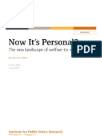 Now It's Personal? The new landscape of welfare-to-work