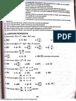 Ejercicios de Funcion Lineal y Cuadratica