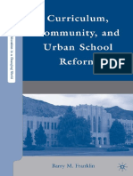 Curriculum Community and Urban School Reform