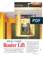 Shop-Made Router Lift