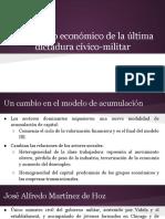 El Proyecto Económico de La Última Dictadura Cívico-militar