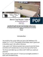 HWHL Router Table Plans