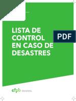 LISTA DE CONTROL EN CASO DE DESASTRES