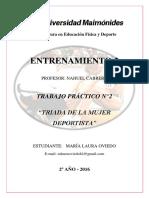 Oviedo Maria Laura - TP2 TRIADA DE LA MUJER DEPORTISTA.pdf