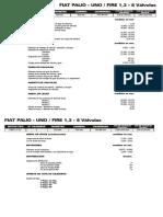 Fiat Palio - Uno - Fire 1,3 - 8 Valvulas