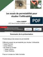 Les essais de perméabilité pour étudier l infiltrabilité.pdf