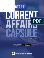 Current Affairs Capsule April 2018