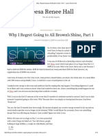 Why I Regret Going to Ali Brown's Shine, Part 1 - Leesa Renee Hall