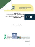 Pobreza Rural en Centroamerica Resumen Ejecutivo - Mayo 2012