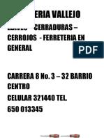 Cerrajeria Vallejo