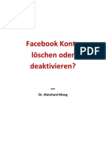 Facebook Konto löschen oder deaktivieren