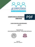 2017 Competencia Arbitraje Caso