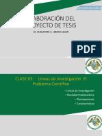 Clase 3. Lineas de Investigacion El Problema Científico (1)