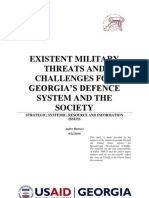 MILITARY THREATS AND CHALLENGES FOR GEORGIA'S DEFENCE SYSTEM AND THE SOCIETY