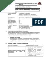 MODELO DE SILABO Herramientas de Gestion de Redes de Comunicacion 2018-II.docx
