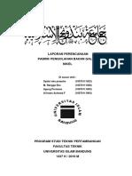 Laporan Perencanaan Pabrik Pengolahan (Nikel)