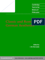 Classic and Romantic German Aesthetics - J. M. Bernstein.pdf