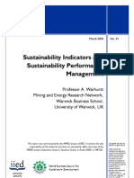 Sustainability Indicators and Sustainability Performance Mgt