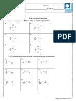 Atividade de Matematica Fracoes Equivalentes 5 Ou 6 Ano