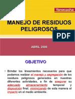 04 - Manejo de Residuos Peligrosos - Abril Primera Parte