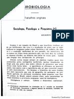 Sociologia, Psicologia e Psiquiatria - Gilberto Freyre