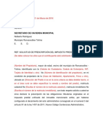 Formato de Prescripcion de Impuestos