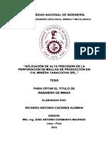 Aplicación de Alta Precision en La Perforacion de Mallas de Produccion en CIA. Minera Yanacocha Srl.