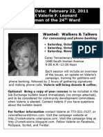 Flyer-Canvassing and Calls