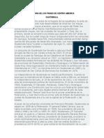 Historia de Los Paises de Centro America
