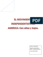 El Movimiento Independentista en America