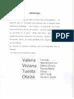 Certificación.- Valeria Tuesta