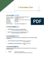 Modelo Curriculum-Vitae - Bolsa de Trabajo