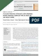 Comportamiento a La Corrosión Del Aluminio Ciclado Térmico