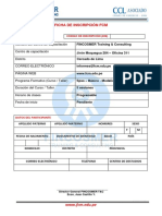 Ficha de Inscripcion Fcm