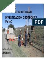 Investigación Geotécnica (Parte 2)