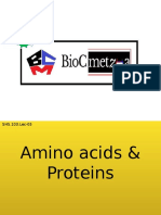 Aminoacids and proteins