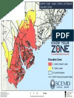 Southern Coast - Jasper, Colleton, Beaufort Evacuation Zones