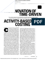 Time-Driven Activity Based Costing