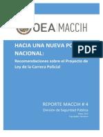 2017 0531 Reporte Maccih 4 Recomendaciones Proyecto Ley Carrera Policial