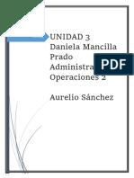 Administración de las operaciones  2 unidad 3